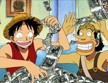 One Piece Tornade et raz de marée ! L'étalon blanc contre Dellinger