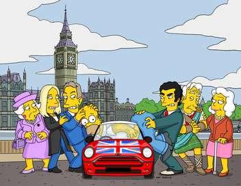 Les Simpson Homer rentre dans la reine