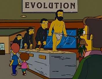 Les Simpson Le vrai descendant du singe